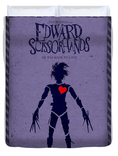 Edward Scissorhands Alternative Poster Duvet Cover by Christopher Ables