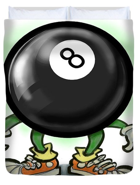 Eightball Duvet Cover by Kevin Middleton