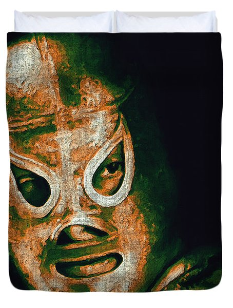 El Santo The Masked Wrestler 20130218 Duvet Cover by Wingsdomain Art and Photography