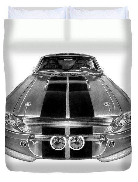Eleanor Ford Mustang Duvet Cover by Peter Piatt