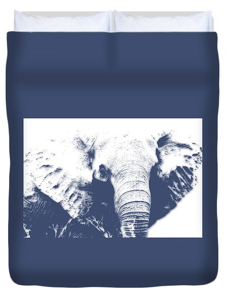 Elephant 4 Duvet Cover by Joe Hamilton