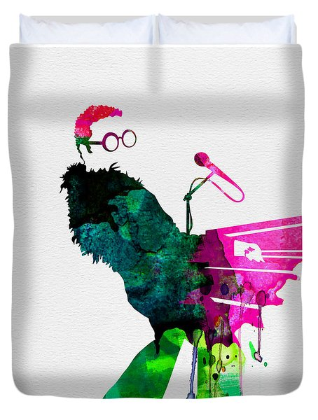 Elton Watercolor Duvet Cover by Naxart Studio