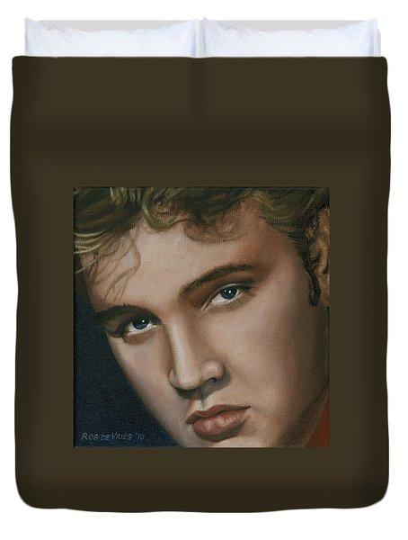 Elvis 24 1955 Duvet Cover by Rob De Vries