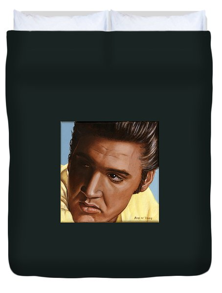 Elvis 24 1956 Duvet Cover by Rob De Vries