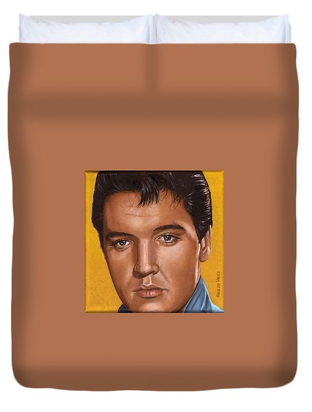 Elvis 24 1965 Duvet Cover by Rob De Vries