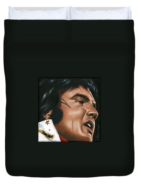 Elvis 24 1974 Duvet Cover by Rob De Vries