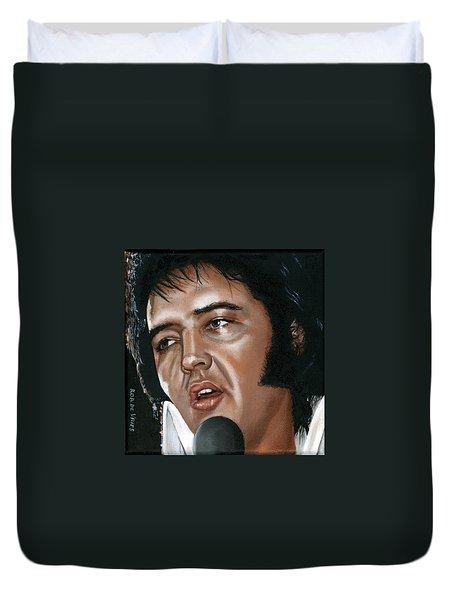Elvis 24 1975 Duvet Cover by Rob De Vries