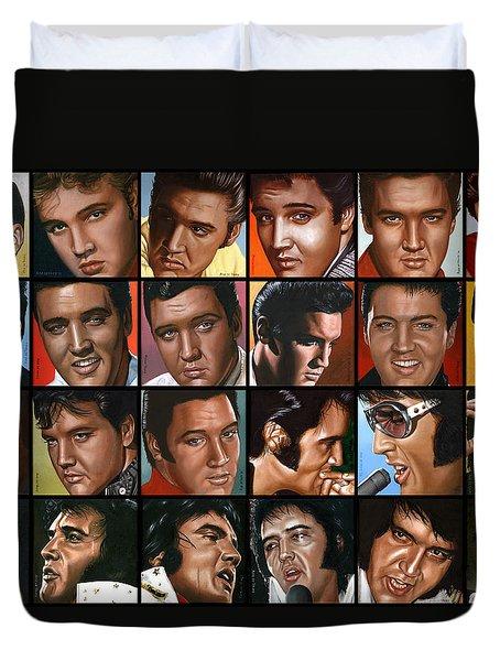 Elvis 24 Duvet Cover by Rob de Vries
