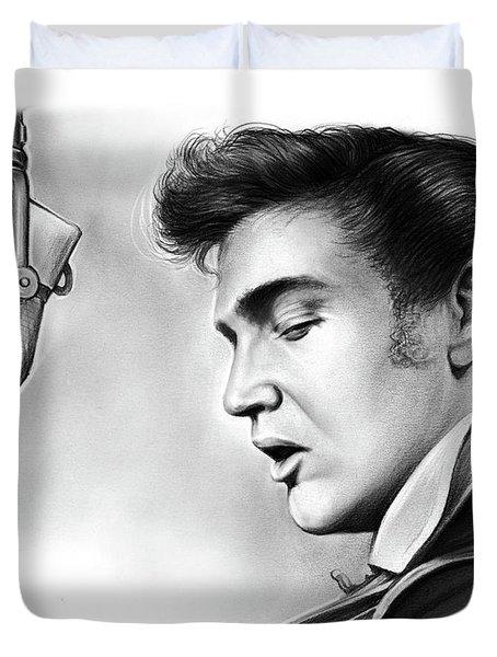 Elvis Presley Duvet Cover by Greg Joens