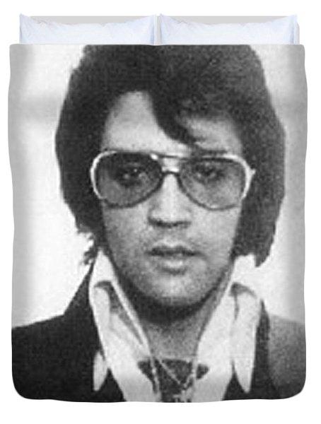 Elvis Presley Mug Shot Vertical Duvet Cover by Tony Rubino