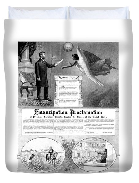 Emancipation Proclamation Duvet Cover by War Is Hell Store