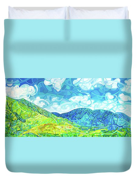 Emerald Moments Duvet Cover by Mandy Budan