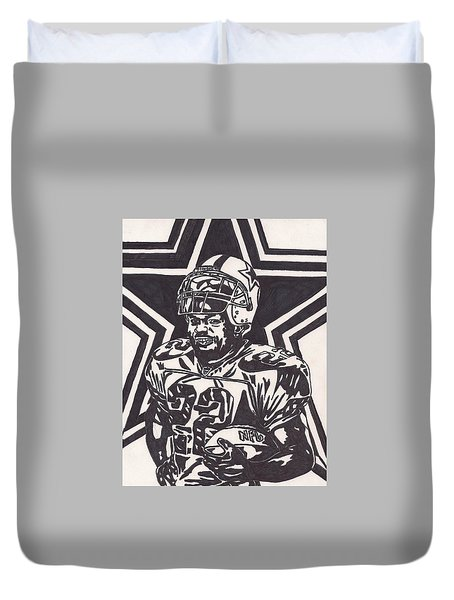 Emmitt Smith Duvet Cover by Jeremiah Colley