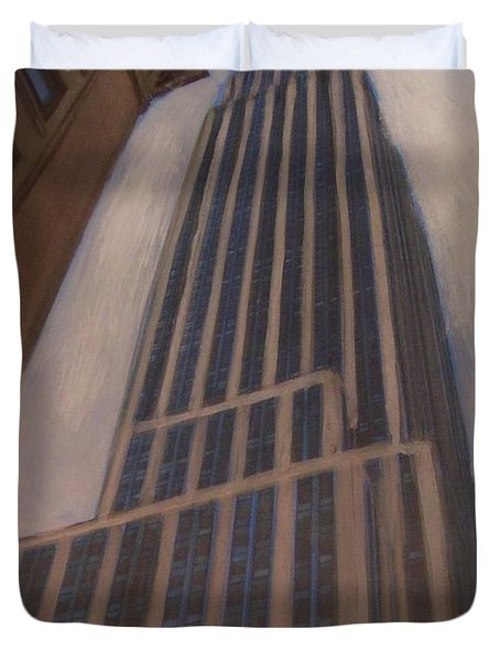 Empire State Building 1 Duvet Cover by Anita Burgermeister
