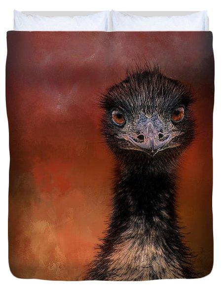 Emu Stare Duvet Cover by Jai Johnson