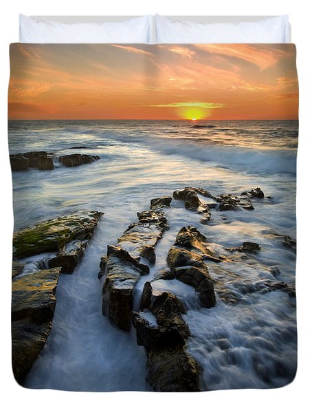 Engulfed Duvet Cover by Mike  Dawson