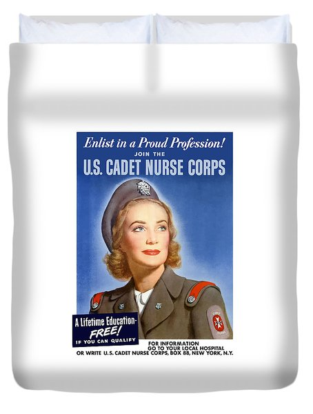 Enlist In A Proud Profession Duvet Cover by War Is Hell Store