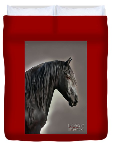 Equus Duvet Cover by Corey Ford