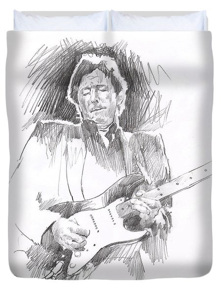 Eric Clapton Blackie Duvet Cover by David Lloyd Glover