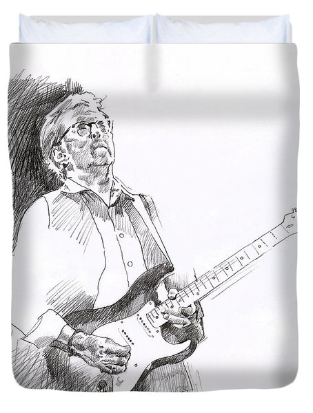 Eric Clapton Joy Duvet Cover by David Lloyd Glover