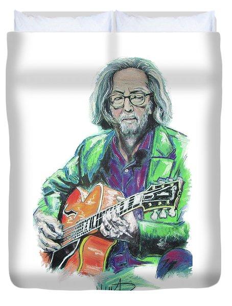 Eric Clapton Duvet Cover by Melanie D