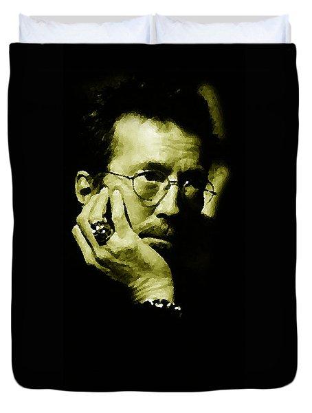 Eric Clapton Duvet Cover by Plamen Petkov