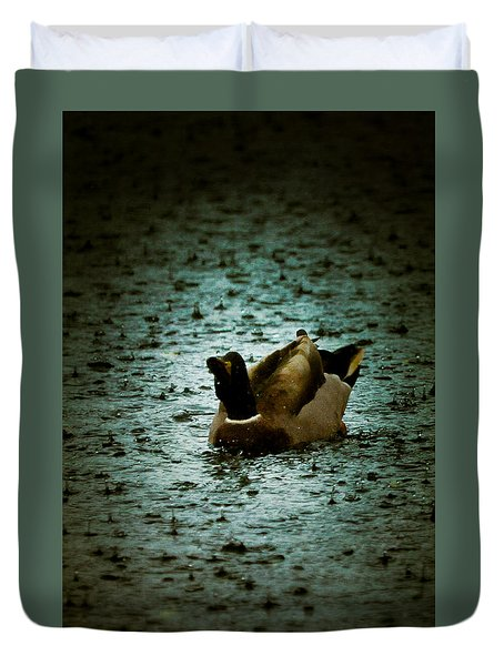 Escaping the Rain Duvet Cover by Loriental Photography
