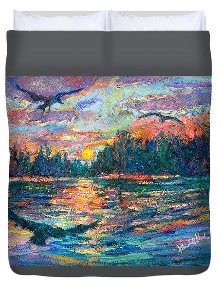 Evening Flight Duvet Cover by Kendall Kessler