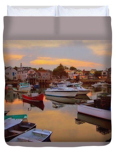 Evening In Rockport Duvet Cover by Joann Vitali