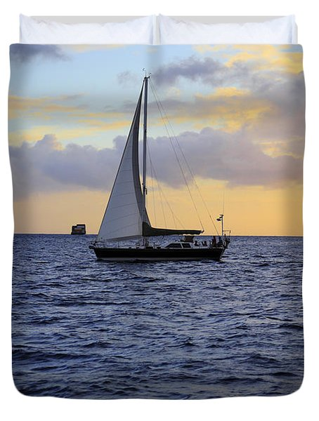Evening Sail Duvet Cover by Cheryl Young