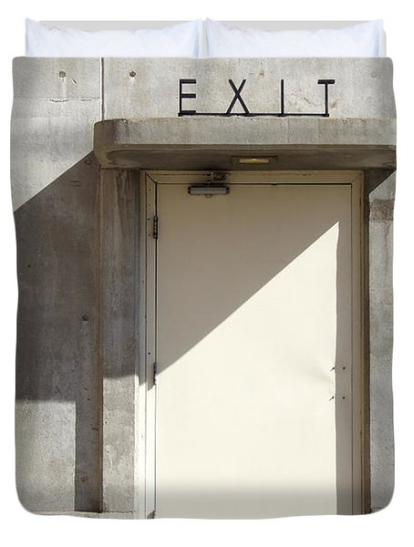 EXIT Duvet Cover by Mike McGlothlen