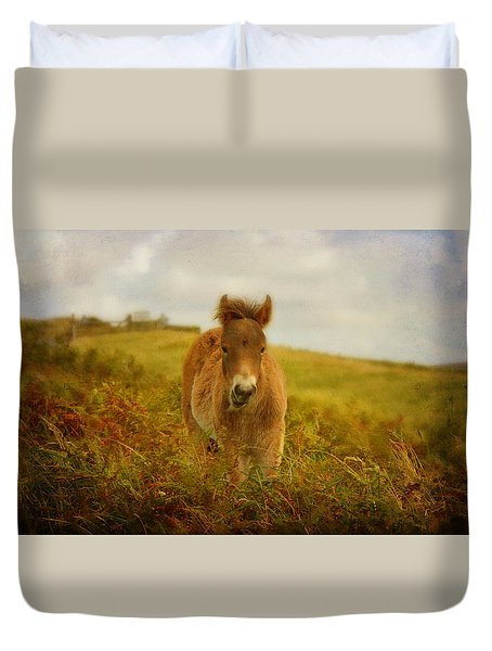 Exmoor Wild Pony Duvet Cover by Carla Parris