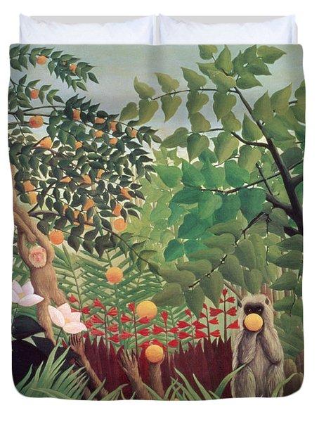 Exotic Landscape Duvet Cover by Henri Rousseau