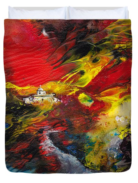 Expelled From The Land Duvet Cover by Miki De Goodaboom