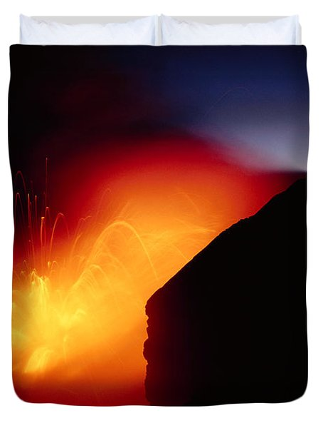 Explosion At Twilight Duvet Cover by William Waterfall - Printscapes