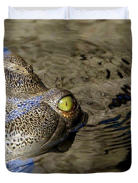 Eye Of The Crocodile Duvet Cover by David Lee Thompson