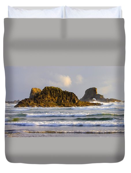 Eye Of The Storm Duvet Cover by Mike  Dawson
