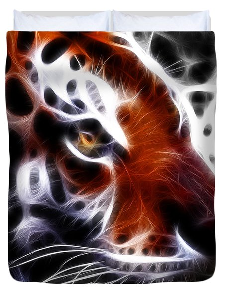 Eye Of The Tiger 2 Duvet Cover by Wingsdomain Art and Photography