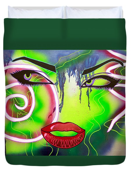 Eyes That Could Kill Duvet Cover by Bobby Zeik