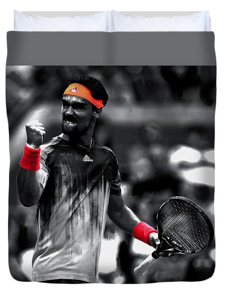 Fabio Fognini Duvet Cover by Brian Reaves