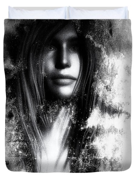 Face In The Mirror Duvet Cover by Bob Orsillo