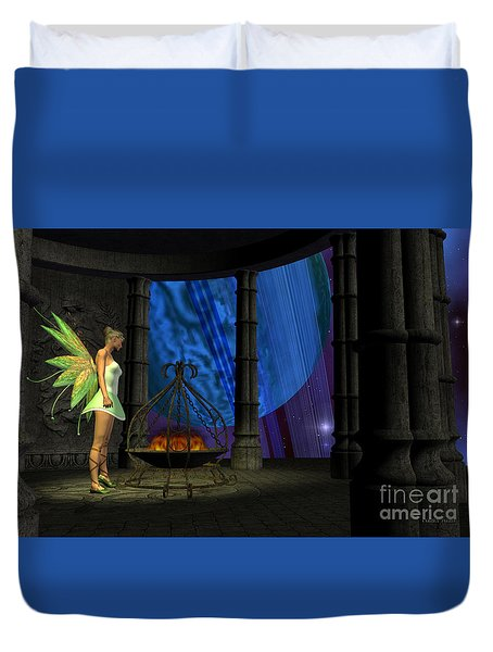 Fairy Haven Duvet Cover by Corey Ford
