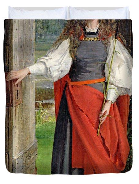 Faith Duvet Cover by George Dunlop Leslie