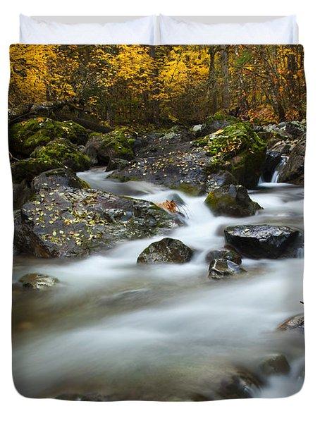 Fall Surge Duvet Cover by Mike  Dawson
