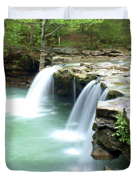 Falling Water Falls 5 Duvet Cover by Marty Koch