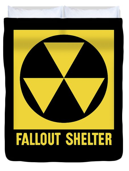 Fallout Shelter Sign Duvet Cover by War Is Hell Store