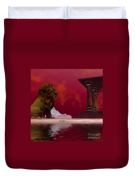 Fantasisms Duvet Cover by Corey Ford