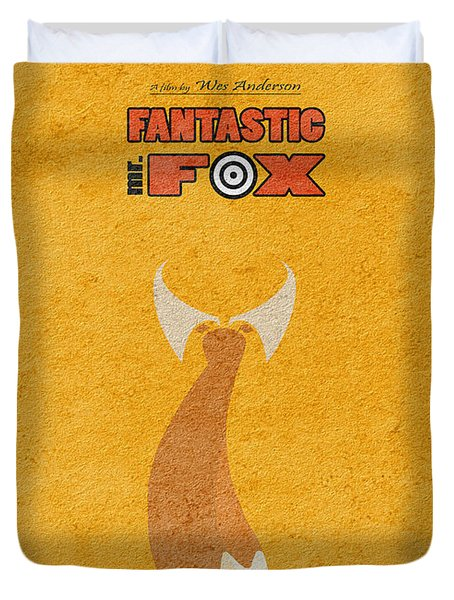 Fantastic Mr. Fox Duvet Cover by Ayse Deniz