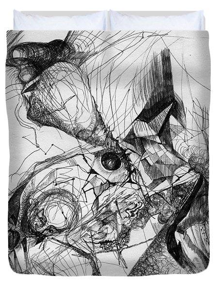 Fantasy Drawing 1 Duvet Cover by Svetlana Novikova