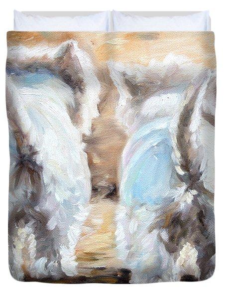 Farewell Duvet Cover by Mary Sparrow